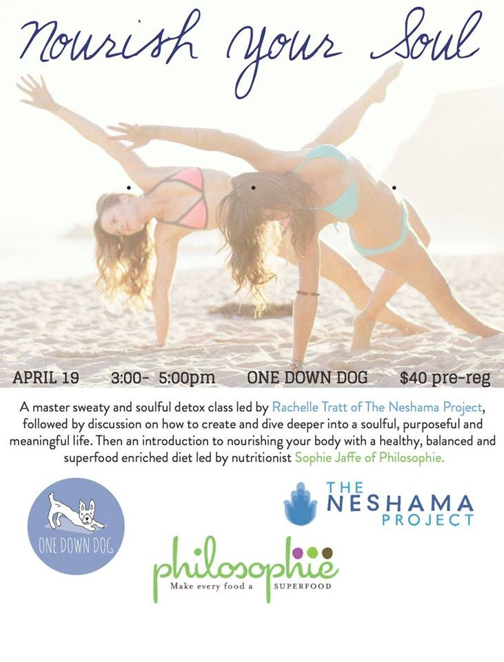 Nourish Your Soul with Neshama Project and Philosophie Foods | One Down Dog Silverlake Yoga Studio Workshop