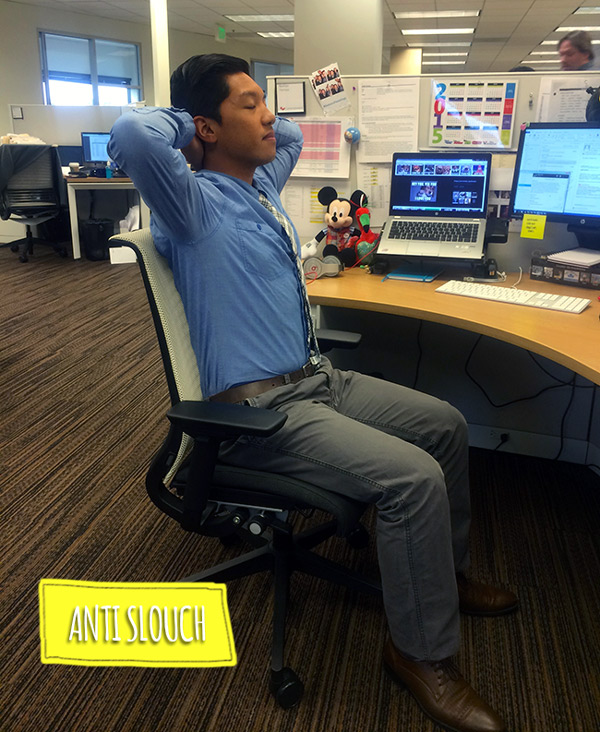 yoga at work Anti Slouch