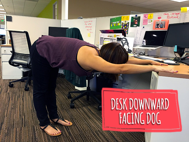 7 Ways To Do Yoga At Your Desk