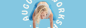 august workshops, cindy in crow pose